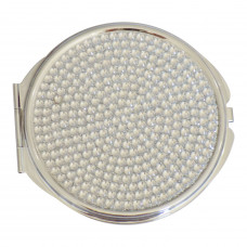 Watch Me Compact - Jeweled Silver