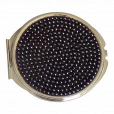 Watch Me Compact - Jeweled Black