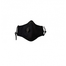Reusable Cotton Face Mask with Filter & Valve - Black