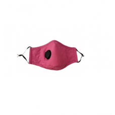 Reusable Cotton Face Mask Filter & Valve - Magenta
