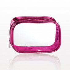 Poppin' Pink Clear Cosmetic Bag